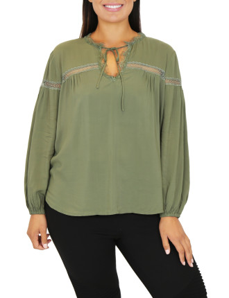 Chive Lace Blouse