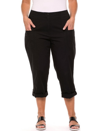 Panelled Washed Cotton Pant