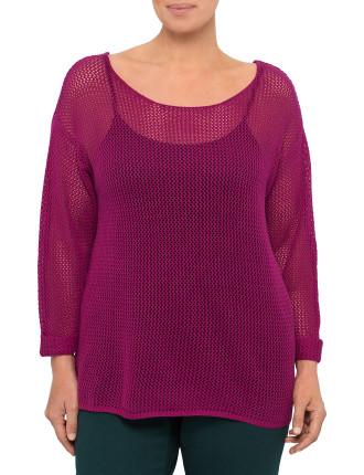 Open Stitch Boxy Sweater