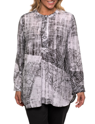 L/S Shard Print Shirt