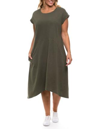 Panelled Jersey Dress