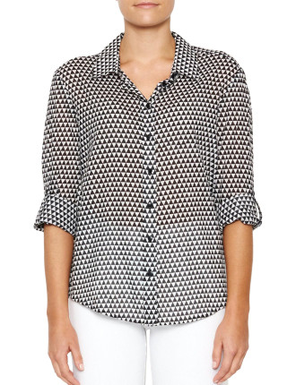 Diamond Print Voile Shirt