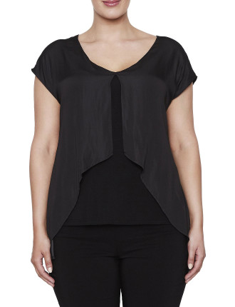 Luxe Overlay Jersey Top