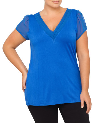 Top With Flutter Sleeve