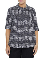Lily Print Cotton Tab Sleeve Shirt $109.00