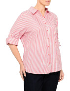 YARN DYE STRIPE SHIRT WITH PINTUCKS $109.00
