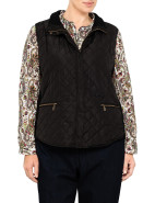QUILTED VEST WITH TRIM DETAIL $119.00