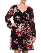Oriental Wrap Chiffion Dress $149.00