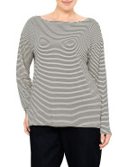 STRIPE STRETCH LONG SLEEVE TOP $59.95