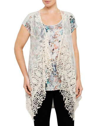 Crochet Lace Front Vest