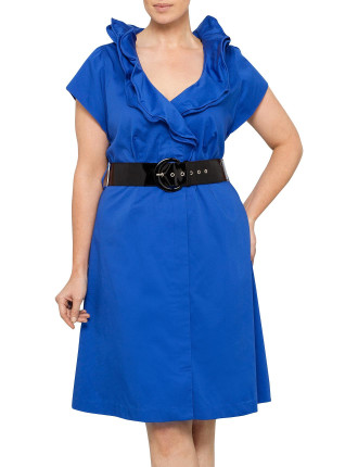 MOULIN RUFFLE NECK SHIRT DRESS