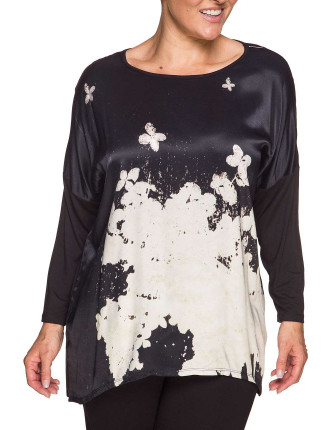 Cherry Blossom Print Front Top