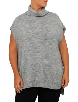 Cowl Neck Drop Shoulder Sweater