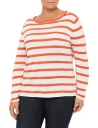 Fine Slub Stripe Crew Neck Jumper $40.95