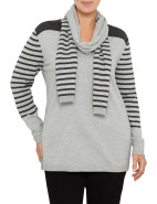 V Neck Graduated Stripe Knit $43.95