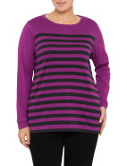 Crew Neck Stripe T-shirt $23.95