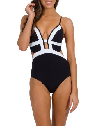 Classique Plunge Banded One Piece