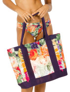 BROCADE PRINT TOTE BAG $129.00