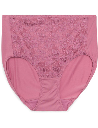 No Ride Up Microfibre And Lace Full Brief