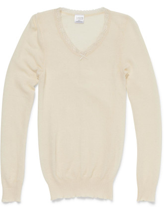 THERMAL Pure Wool L/S Spencer Pkge