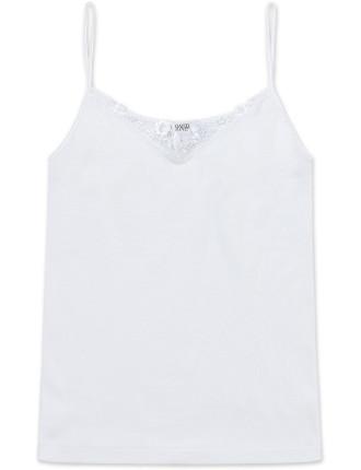 Cotton Cami W/Lace