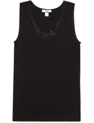 Cotton Vest W/Lace