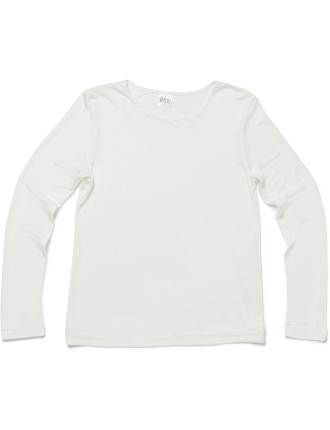 THERMAL Knitted Silk Long Sleeve Crew