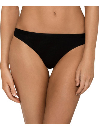 Ck Black Structure Cotton Thong