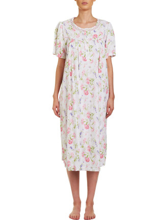 Gwen Short Sleeve Midlength Nightie