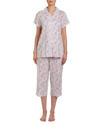 Yolanda Short Sleeve Capri Pyjama