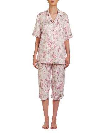 Rickie Short Sleeve Capri Pyjama