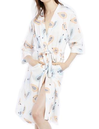 Nashi Print Robe