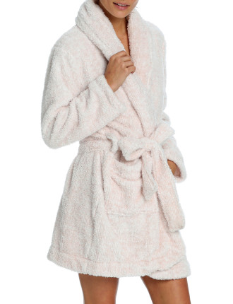 Short Plush Robe