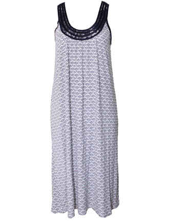 Sleeveless Deco Sleep Dress