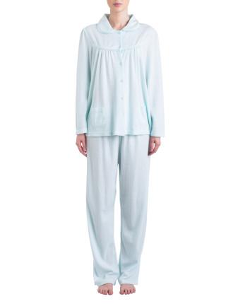 Jacquard Knit Long Pyjama