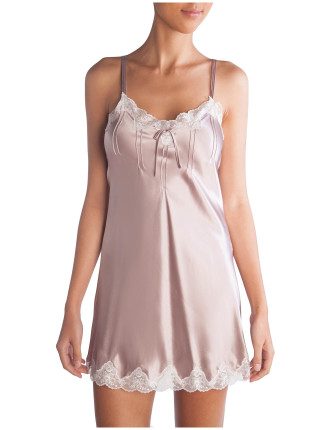Lace Silk Chemise With Pintucks