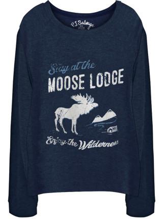 Great Outdoors Longsleeve Moose Lodge Top