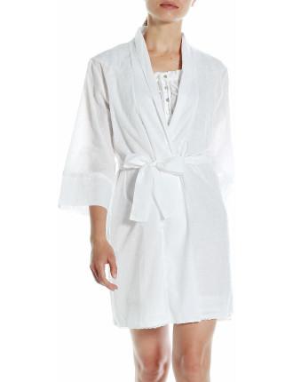 Swiss Dot Robe