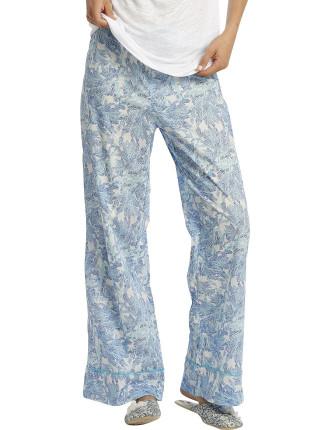 Liberty Blue Coral Wide Leg Pants
