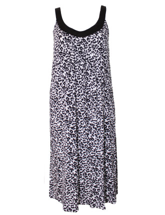 Sleeveless Leopard Sleep Dress