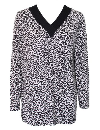 Leopard Sleep Top