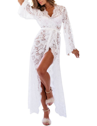 Anemone Lace Robe