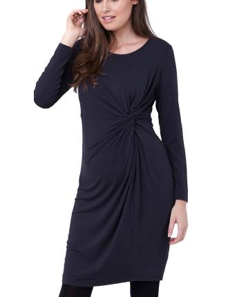 Side Knot Jersey Dress