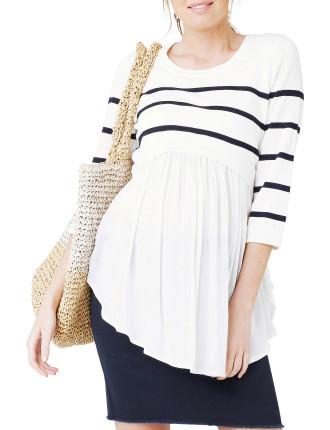 Maritime Babydoll Nursing Knit
