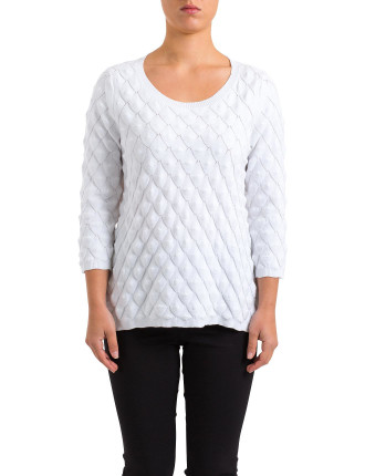 Scale Knit Pullover