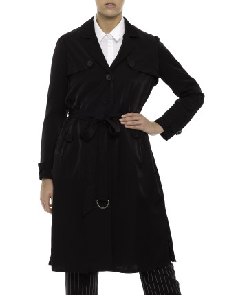 L/S Cupro Trench