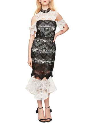Lace Dress W Detachable Peplum.
