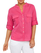 Twin Pocket Cotton Voile Shirt $99.95
