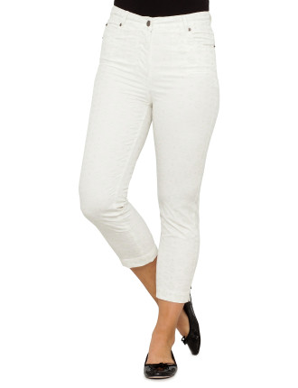 Embroidered Slim Leg Jean