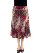 WINTER ESCAPE FLOCKED PRINT MESH SKIRT $99.95